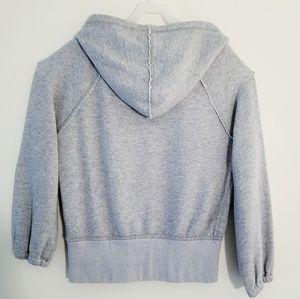 Free people gray hoodie